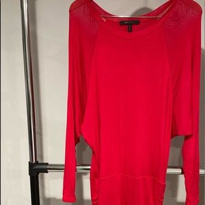 BCBG Red cute shirt dress. Big on top tight on bot